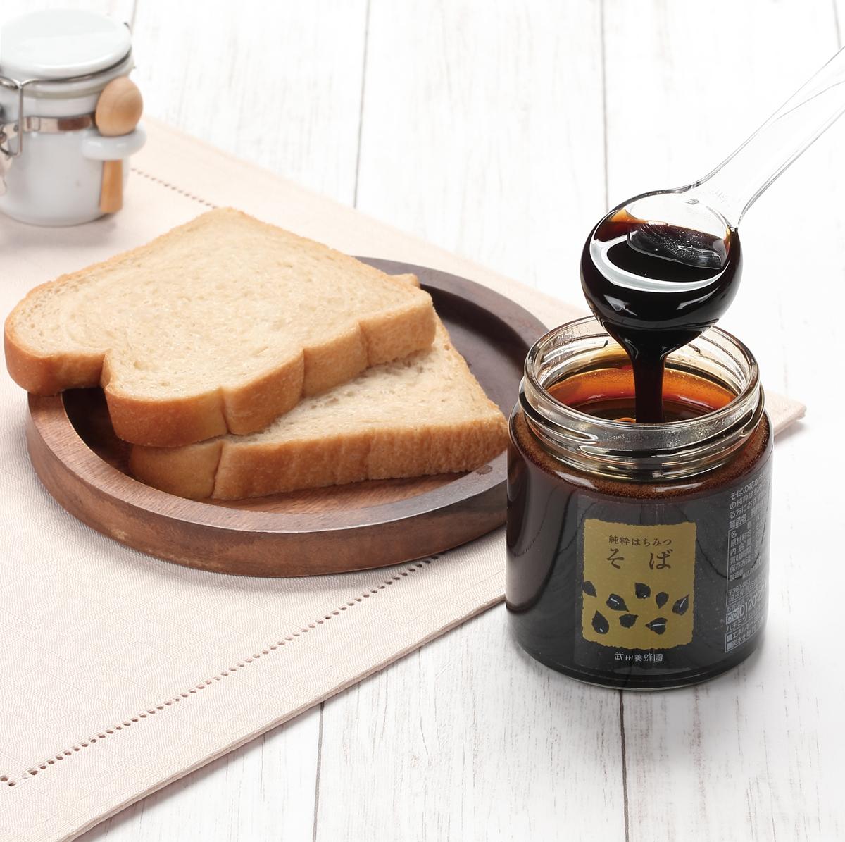 そば蜂蜜+パン